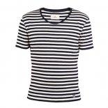 RYMHART - Shirt - Marine-Ecru, geringelt